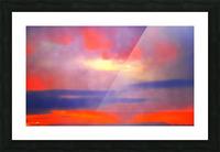 Orange Clouds Picture Frame print