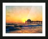 manhattan beach sunset wall art Picture Frame print