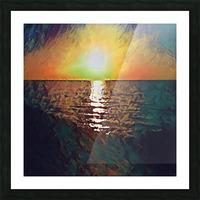 sunset art Picture Frame print