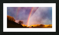 double rainbow Picture Frame print