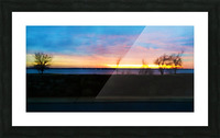 lake sunset 4 trees Picture Frame print