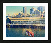 seattle skyline Picture Frame print