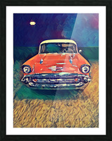 57 chevy car art Picture Frame print