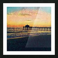 manhattan beach sunset Picture Frame print