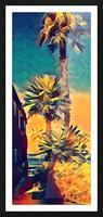 manhattan beach palm trees Picture Frame print