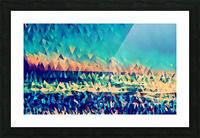 abstract blue sky ocean Picture Frame print