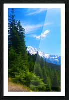washington state mountains Picture Frame print