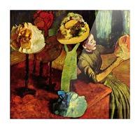 The fashion shop by Degas Picture Frame print