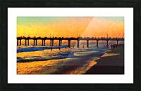 manhattan beach sunset art Picture Frame print
