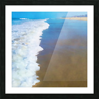 manhattan beach watercolor Picture Frame print