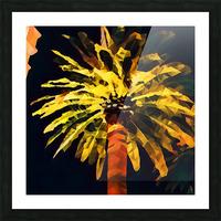 las vegas palm tree at night Picture Frame print