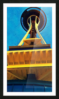 seattle space needle abstract Picture Frame print