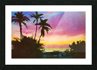 gulf of mexico sunset art Picture Frame print