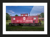 Norfolk & Western Caboose Picture Frame print