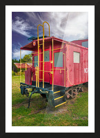 Caboose Picture Frame print