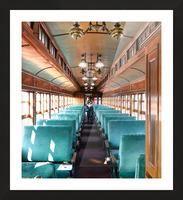 Interior of Antique Railcar. Picture Frame print