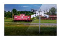 Rail Car in Exmore VA Picture Frame print