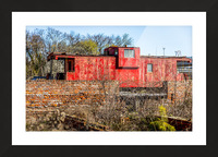Rail Car in Petersburg VA Picture Frame print