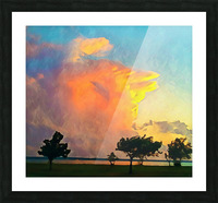 thunder cloud Picture Frame print