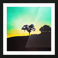 hill tree Picture Frame print
