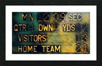 Football Scoreboard Art Picture Frame print