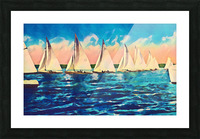 sail boats art Picture Frame print