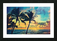 florida palm trees art Picture Frame print