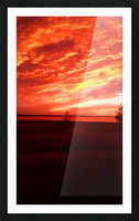 red sky Picture Frame print