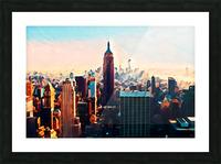 new york city skyline Picture Frame print