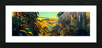 hollywood sign art Picture Frame print