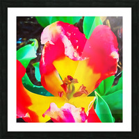 heart flower Picture Frame print