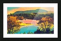 housatonic river monument mountain stockbridge mass Picture Frame print