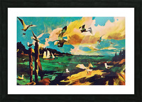 gulls laurence sisson maine art remix Picture Frame print