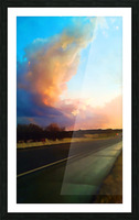 highway beauty Picture Frame print