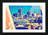 seattle under construction  1  Picture Frame print