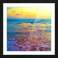 Yellow Sky at Manhattan Beach Picture Frame print