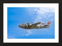 Panchito B25 In Flight Picture Frame print