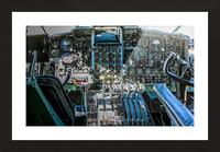 Aircraft Cockpit Picture Frame print