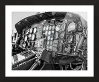 Helicopter Cockpit Picture Frame print