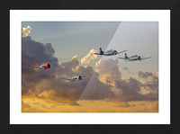 Four T 28 Trainers Picture Frame print