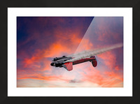 Beech B18 Inverted Flight Picture Frame print