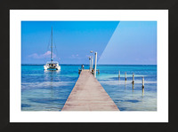 Ambergris Caye 1 Picture Frame print