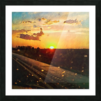 windshield raindrops two Picture Frame print