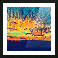 sky wires Picture Frame print