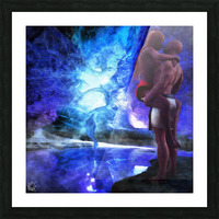 The Lovers Pool Picture Frame print