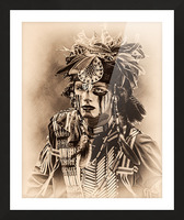 Native American 4 Picture Frame print