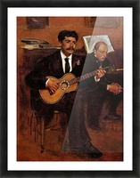 The guitarist Pagans and Monsieur Degas by Degas Picture Frame print