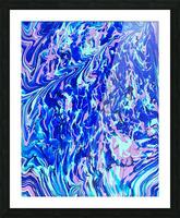 Purple Camo Picture Frame print