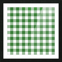 Green Plaid Pattern Picture Frame print