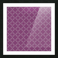 Light Purple Squares And Diamonds Pattern Picture Frame print